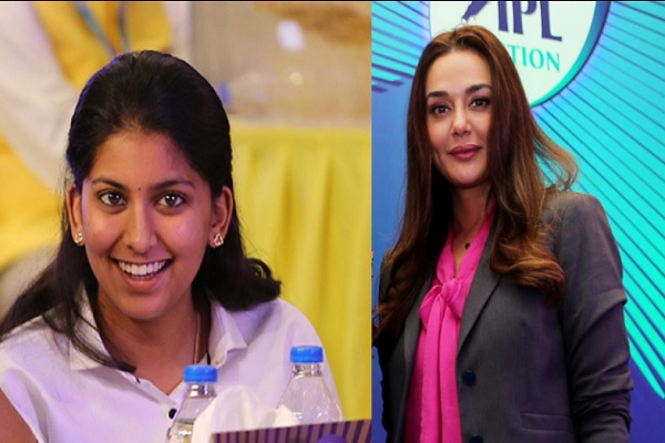 Janvi Chawla With KXIP Owner Preity Zinta Images in Hindi