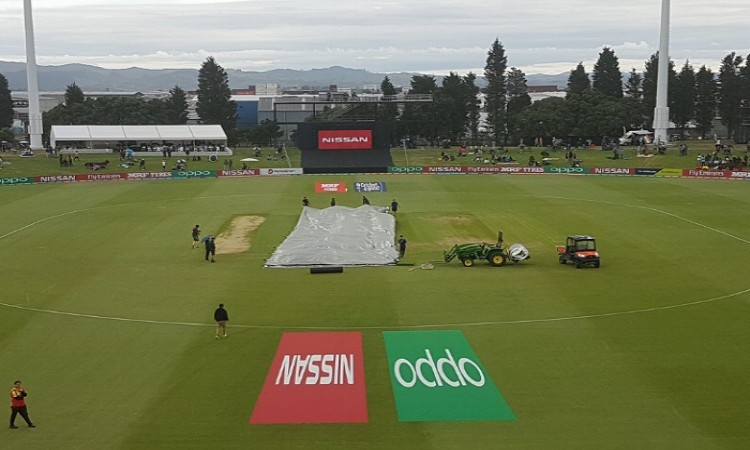 Rain interrupts India's chase in ICC U19 World Cup final Images