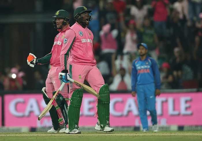 South Africa beat India by 5 wickets in fourth odi