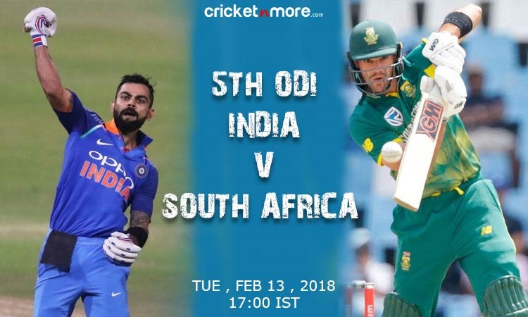 India eyeing first series victory in South Africa in 5th odi