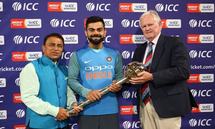 Team India receives Test championship mace