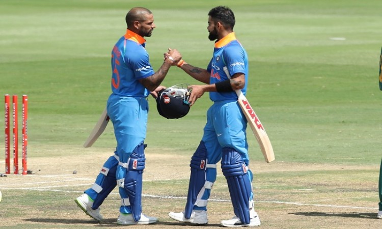 VIRAT KOHLI,SHIKHAR DHAWAN equals Sourav Ganguly and Rahul Dravid record