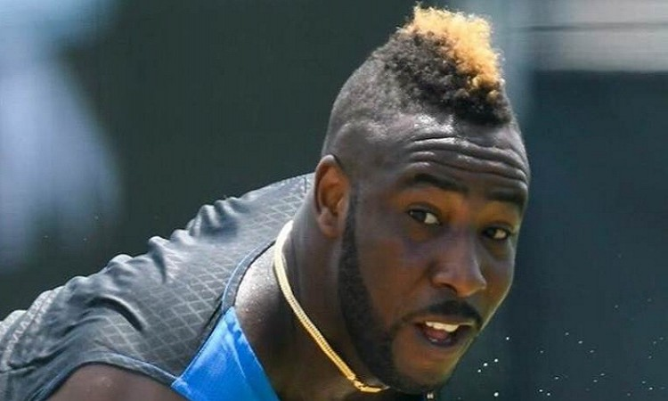 Image of  Andre Russell raring to go after training with Bolt's physio