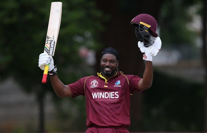 Chris Gayle hit century against UAE in Cricket World Cup Qualifier