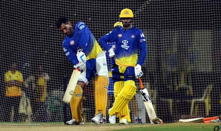 Dhoni (CSK Team Practice Session In Delhi) Images