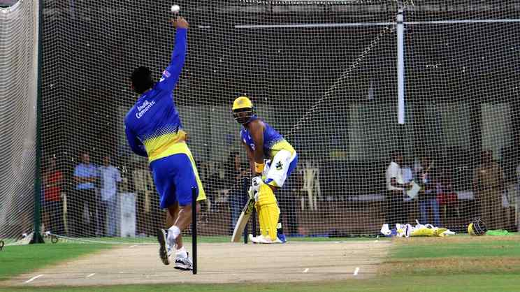 Dwayne Bravo (CSK Team Practice Session In Delhi) Images