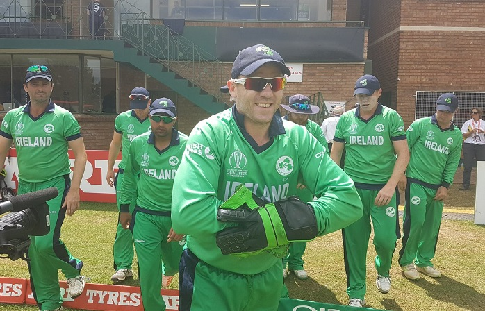 Ireland beat Scotland by 25 runs in super six
