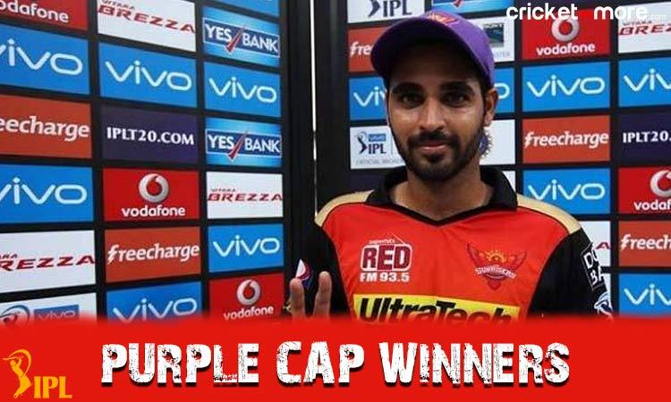 image for IPL history : Purple cap holders of all season