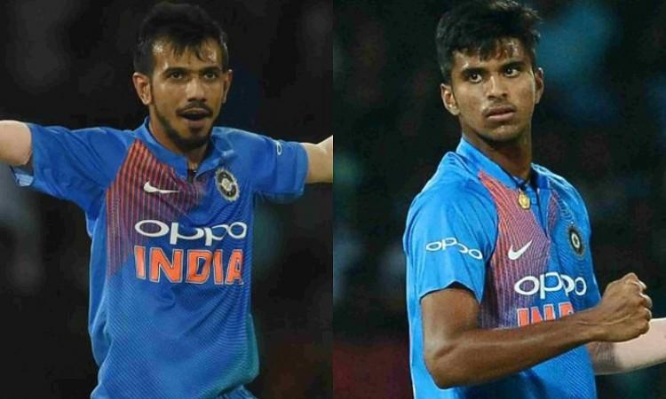 Yuzvendra Chahal and Washington Sundar make big gains in latest ICC T20I rankings