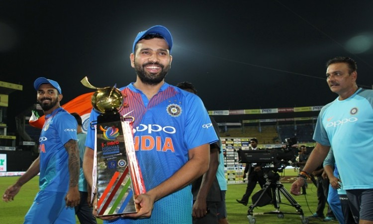 Rohit Sharma hails Dinesh Karthik's last ball brilliance