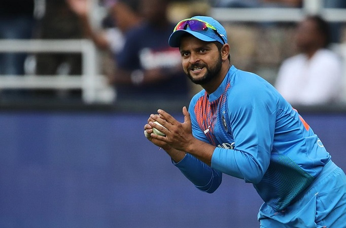 Suresh Raina has now taken 38 catches in T20I