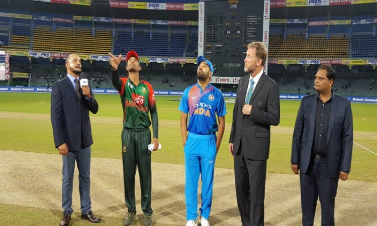 Toss : Bangladesh won the toss, elected to bowl first Images