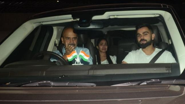 Virat Kohli attends Pari screening with Anushka Sharma's family in Mumbai