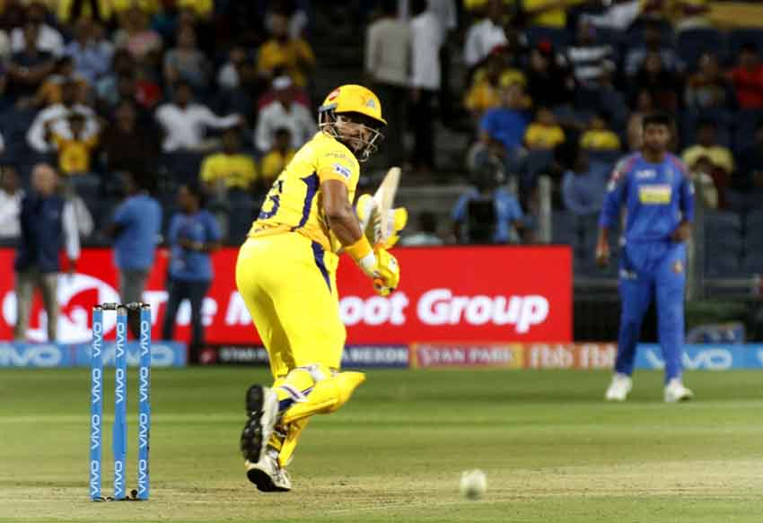 Suresh Raina Of Chennai Super Kings In Action During An IPL 2018 Match Images