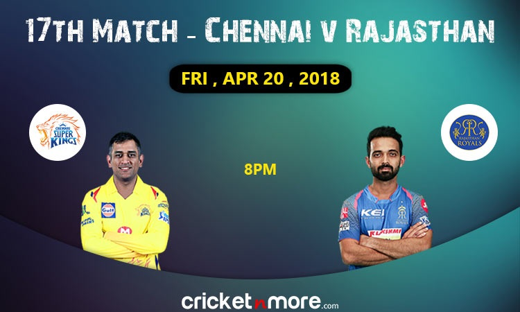 IPL 2018: CSK eyeing win against Rajasthan Royals at their new home (Preview)