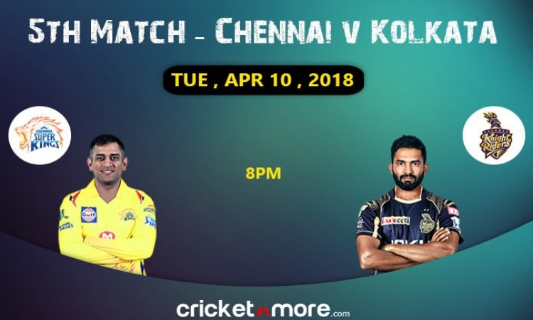 Kolkata Knight Riders vs Chennai Super Kings  probable playing XI