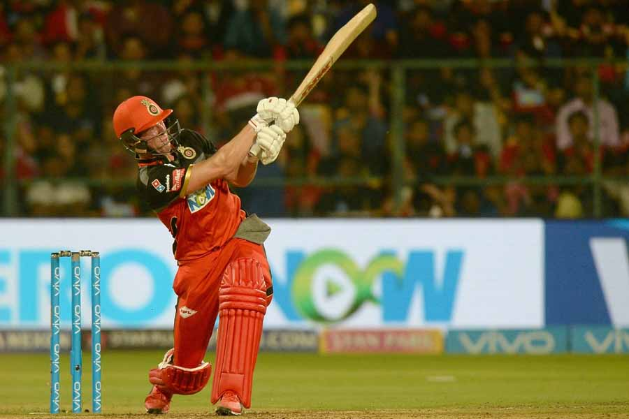AB De Villiers Of Royal Challengers Bangalore In Action During An IPL 2018 Match Images