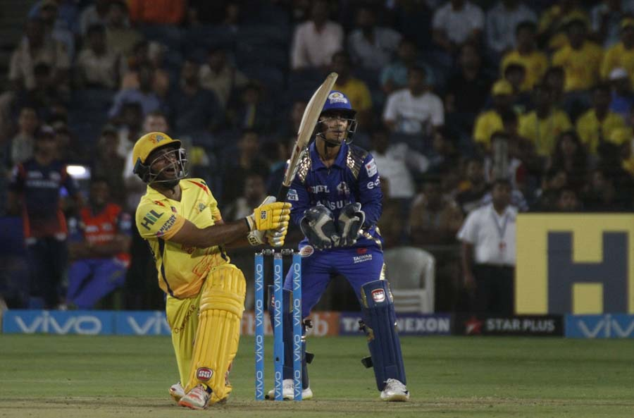 Ambati Rayudu Of Chennai Super Kings During An IPL 2018 Match Images