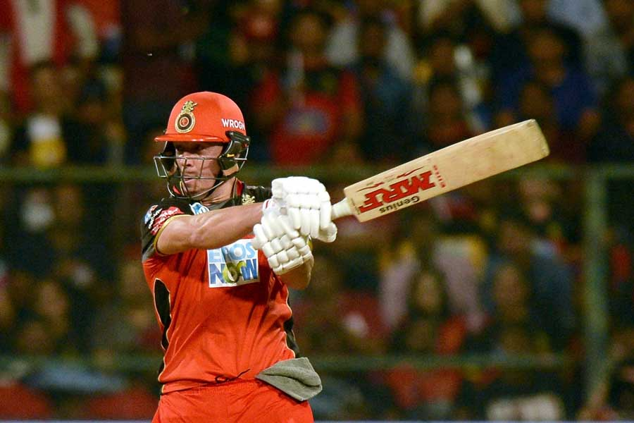 Bengaluru AB De Villiers Of Royal Challengers Bangalore In Action During An IPL 2018 Match Images