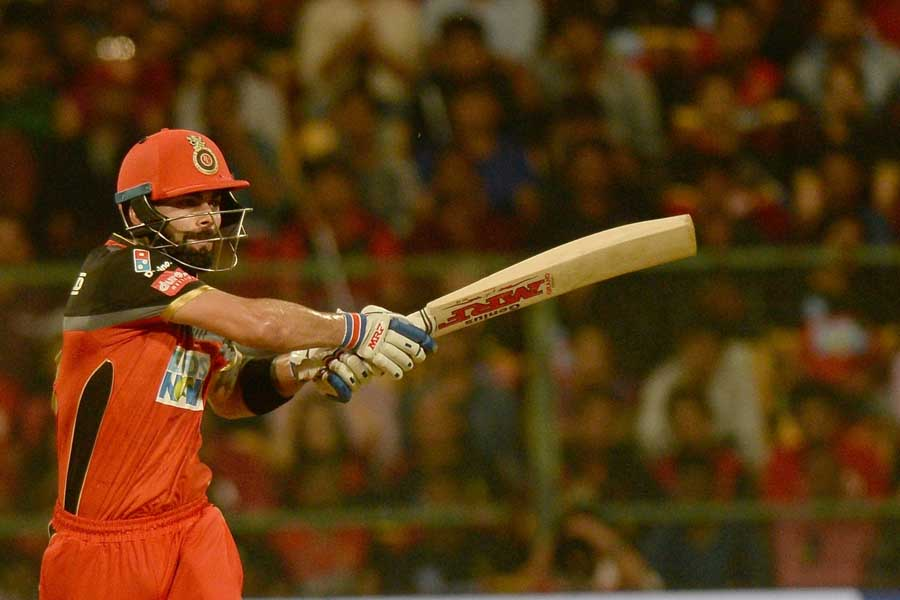 Bengaluru Royal Challengers Bangalore Captain Virat Kohli In Action During An IPL 2018 Match Images