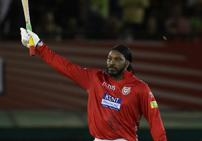 Chris Gayle 6th IPL 100 powers KXIP to 193