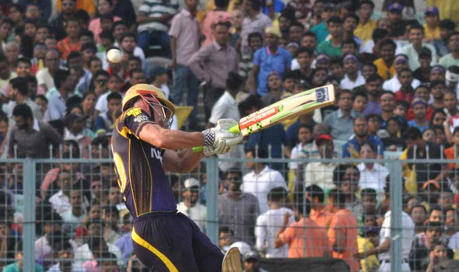 Chris Lynn Of Kolkata Knight Riders In Action During An IPL 2018 Match KKR Vs KXIP Images