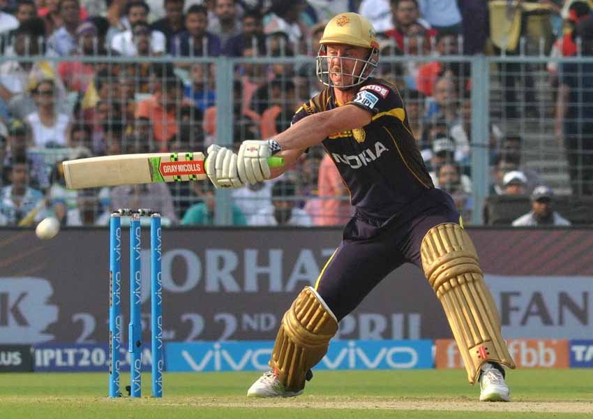 Chris Lynn Of Kolkata Knight Riders In Action During An IPL 2018 Match Images