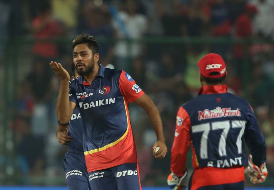 Delhi Daredevils Avesh Khan Celebrates Fall Of Nitish Ranas Wicket JPG Images
