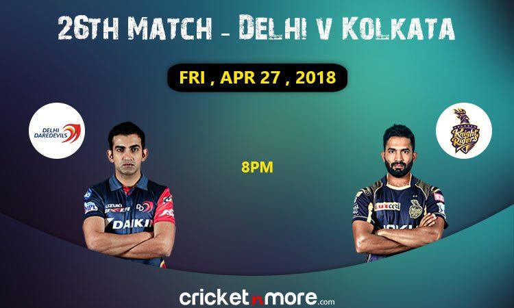 Delhi Daredevils vs Kolkata Knight Riders