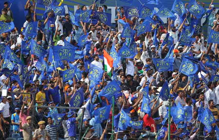 Fans Of Rajasthan Royals Cheer During An IPL 2018 Images