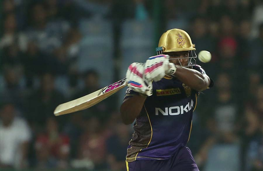 KKR Andre Russel In Action During An IPL 2018 Images