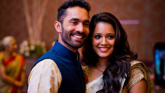 KKR Captain Dinesh Karthik With His Wife Dipika Pallikal Images in Hindi
