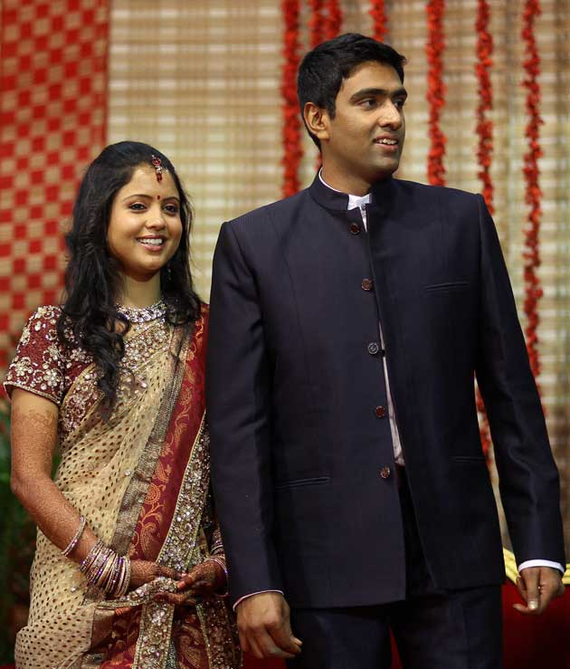 KXIP Captain R Ashwin With His Wife Prithi Narayanan Images