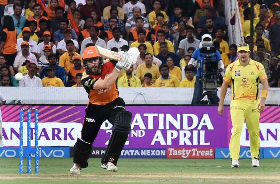 Kane Williamson in action during an IPL 2018 Match Between CSK and SH Images