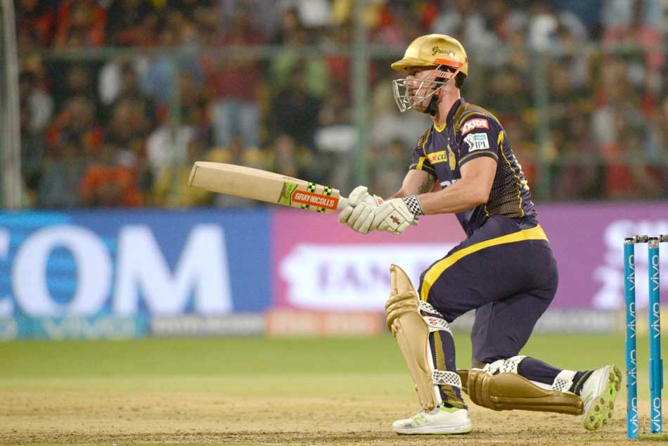 Kolkata Knight Riders Chris Lynn In Action During An IPL 2018 Images