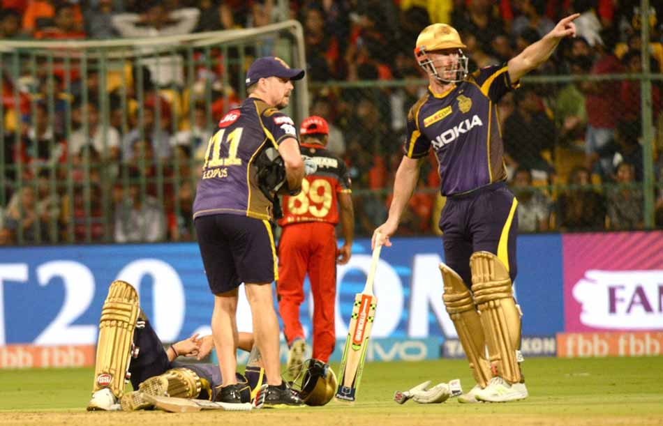 Kolkata Knight Riders Nitish Rana Gets Injured During An IPL 2018 Match Images