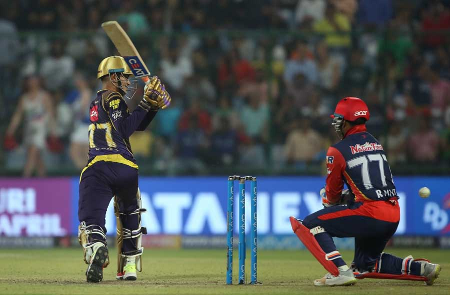 Kolkata Knight Riders Shubman Gill In Action During An IPL 2018 Match Images