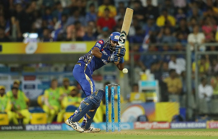 Krunal pandya blitz lifts Mumbai Indians to 165