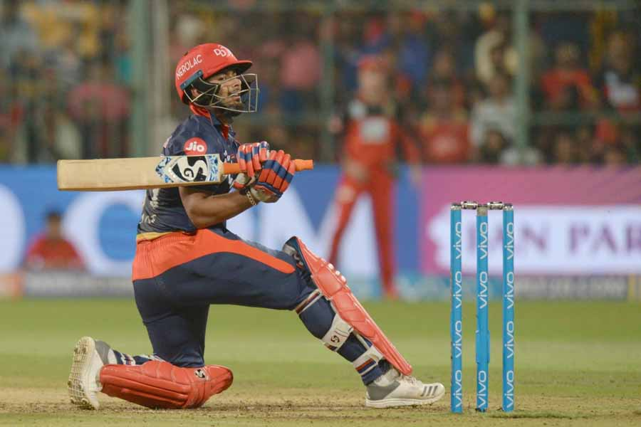 Image for Rishabh Pant Of Delhi Daredevils In Action During An IPL 2018 Match