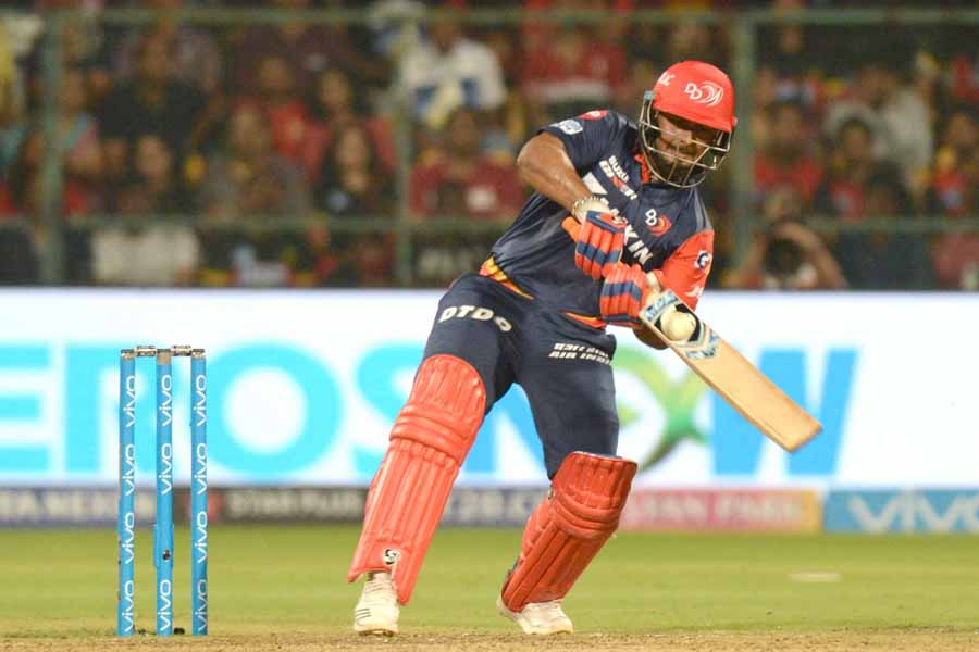 Rishabh Pant Of Delhi Daredevils In Action During An IPL 2018 Match Images