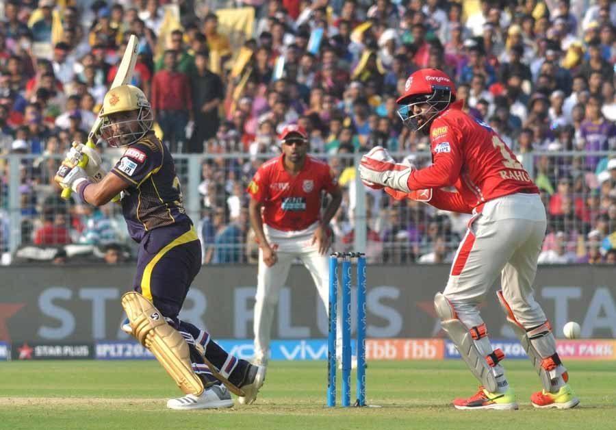 Image for Robin Uthappa Of Kolkata Knight Riders In Action During An IPL 2018 Match KKR Vs KXIP