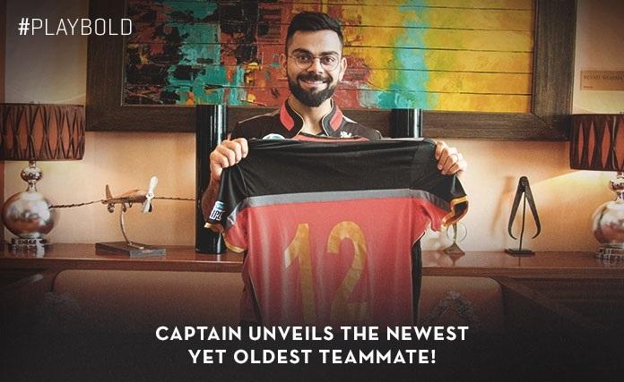 Royal Challengers Bangalore dedicate fans jersey No. 12