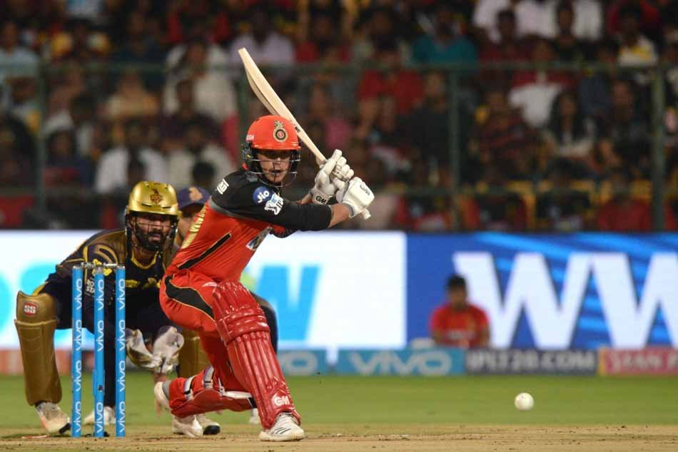 Royal Challengers Bangalores Quinton De Kock In Action During An IPL 2018 Match Images