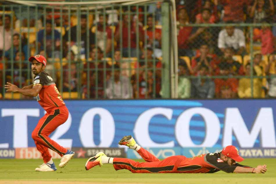 Royal Challengers Bangalores Virat Kohli During An IPL 2018 Match Images