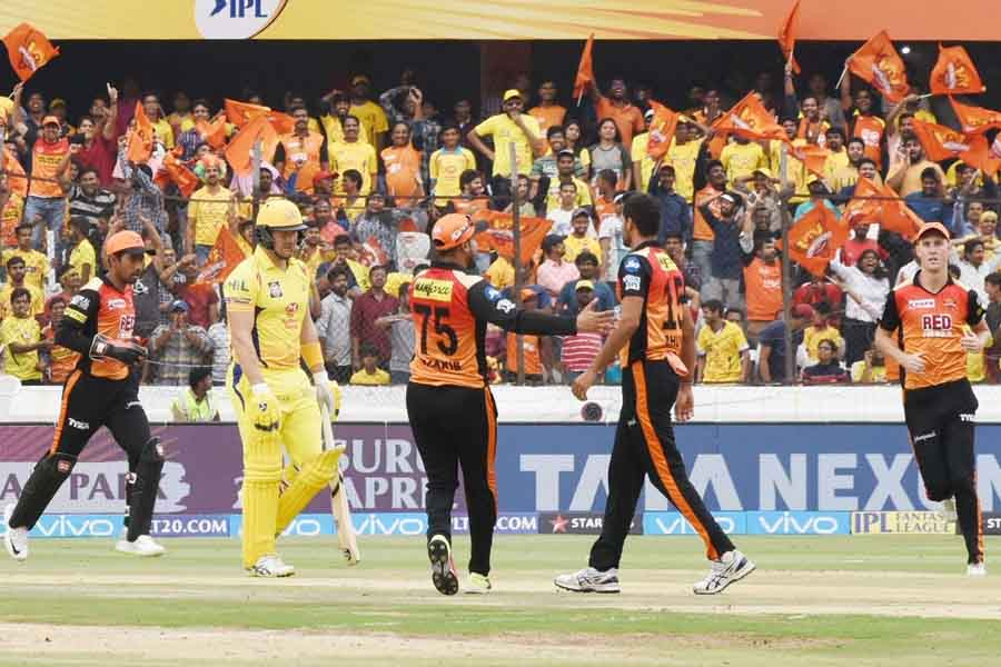 SH Celebrate The Dismissal Of Shane Watson During An IPL 2018 Images