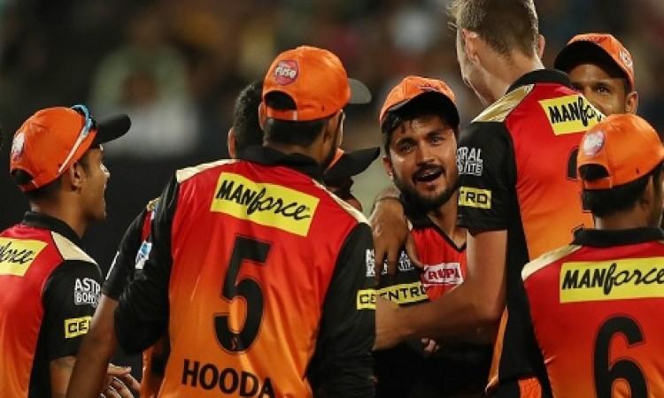 सनराइजर्स हैदराबाद की टीम को जीत के लिए 139 रन की जरूरत