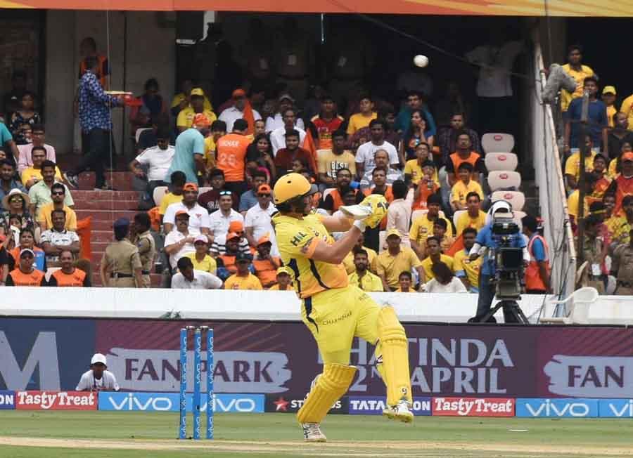 एक आईपीएल 2018 के दौरान कार्रवाई में चेन्नई सुपर किंग्स के शेन वाटसन फोटो