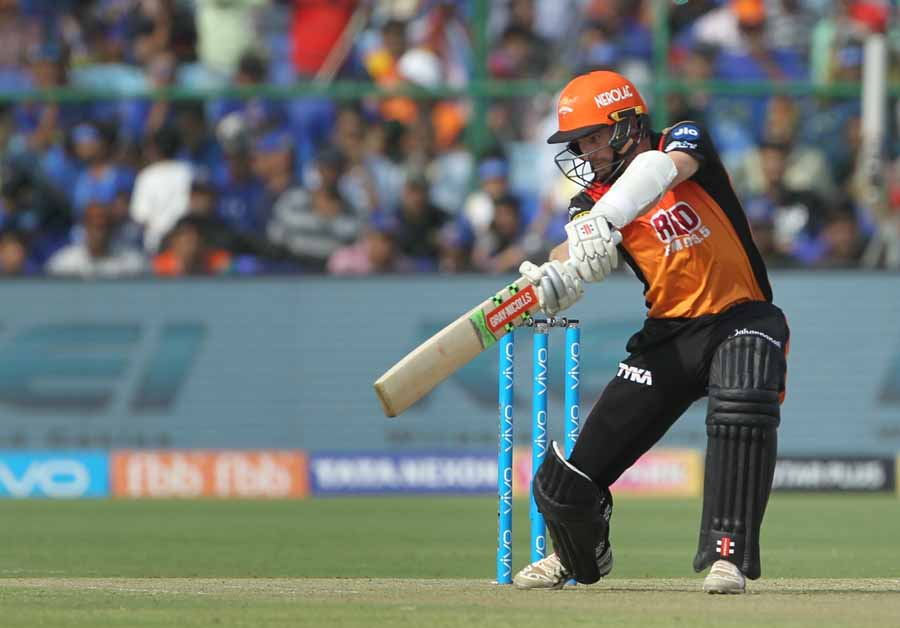 Sunrisers Hyderabad's Kane Williamson in action during an IPL 2018 Images