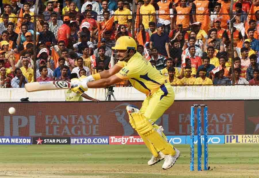 Suresh Raina Of Chennai Super Kings In Action During An IPL 2018 Images
