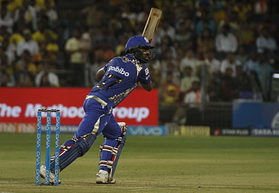 Suryakumar Yadav In Action During An IPL 2018 Images